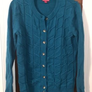Sweaters - Turquoise cardigan